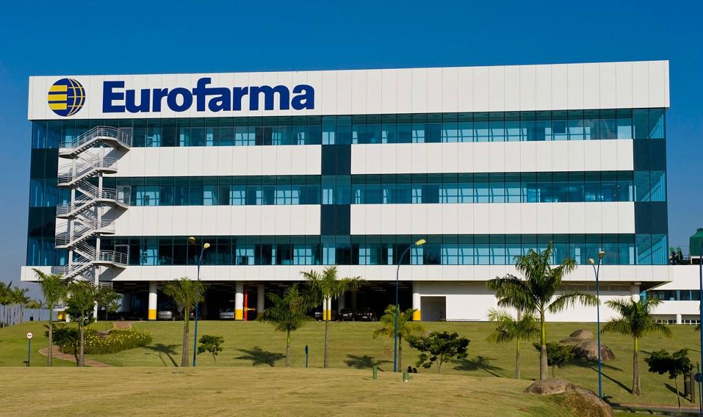 Fachada da Eurofarma, que firma acordo com UFRJ