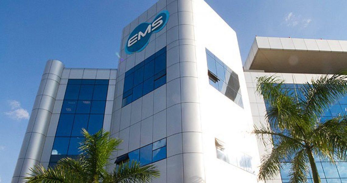 Fachada da fábrica da EMS